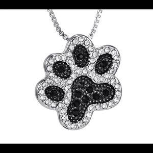 Coming soon! Crystal dog paw necklace